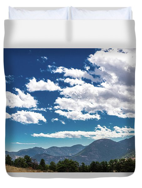 Duvet Cover featuring the photograph Blue Skies And Mountains II by James L Bartlett