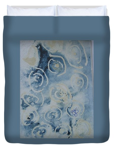 Blue Spirals Duvet Cover