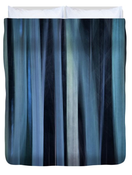 Blue Trees 1 Duvet Cover