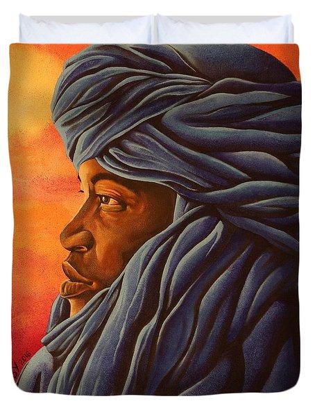 Blue Tuareg Duvet Cover