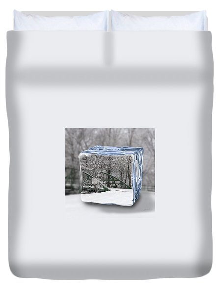 Blue Water Ice Cube Duvet Cover
