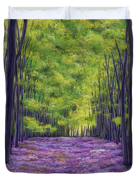Bluebells And Daydreams Duvet Cover