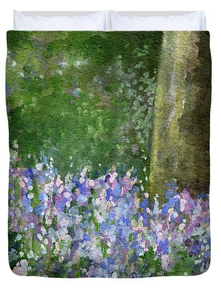 Bluebells Under The Trees Duvet Cover