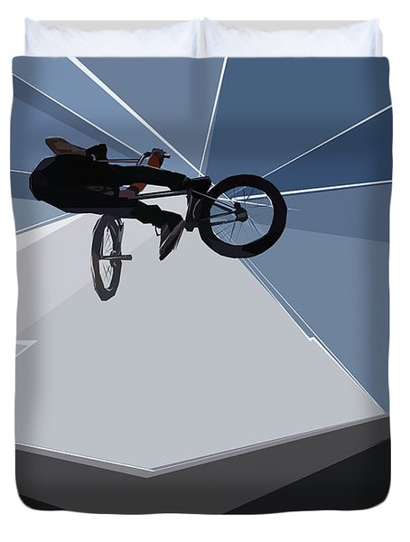 Bmx Biking  Duvet Cover