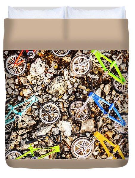 Bmx Pebble Race Duvet Cover