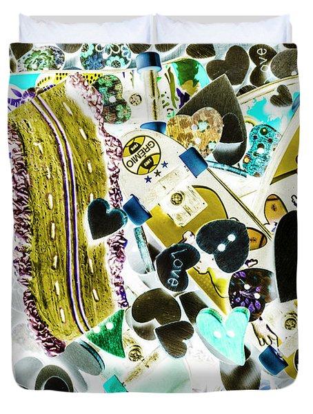 Boarding Background Duvet Cover