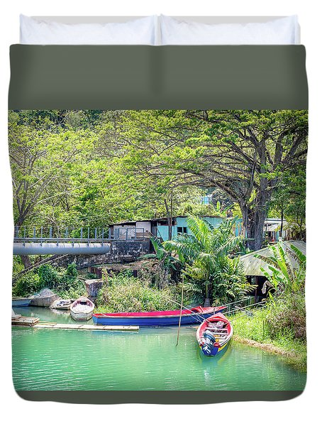 Boat And Rafting Tours Duvet Cover