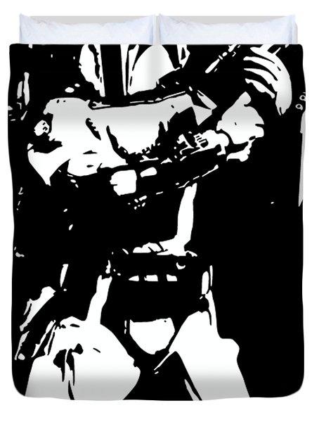 Boba Fett Minimalistic Pop Art Duvet Cover