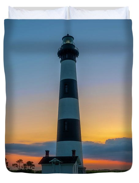 Bodie Island Lighthouse, Hatteras, Outer Bank Duvet Cover