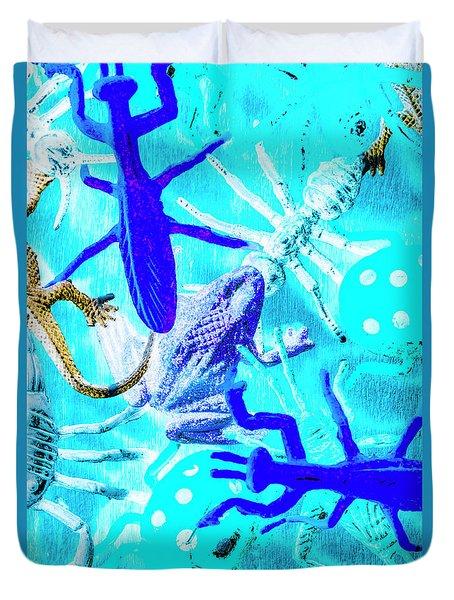 Bohemian Blue Duvet Cover