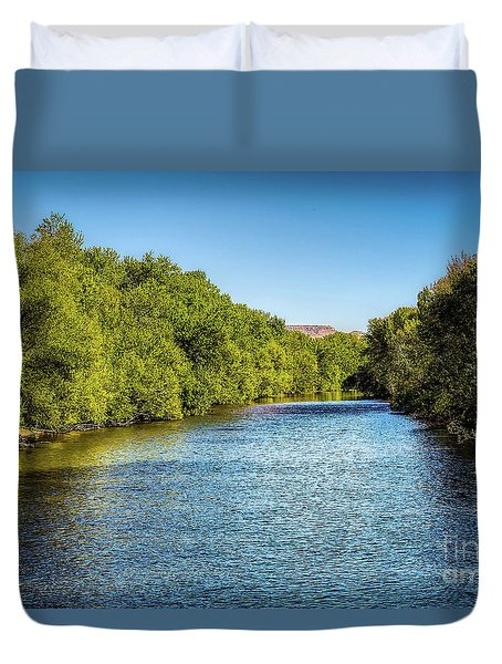 Duvet Cover featuring the photograph Boise River by Jon Burch Photography