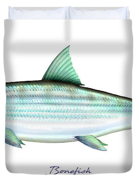 Bonefish Duvet Cover