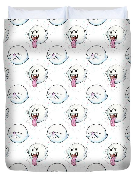 Boo Ghost Pattern Duvet Cover