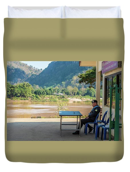Border Guard Hard At Work Duvet Cover