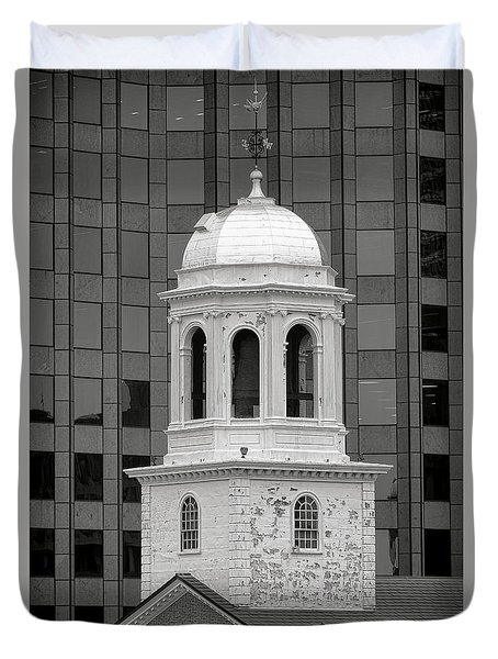Boston Faneuil Hall Bell Tower Duvet Cover