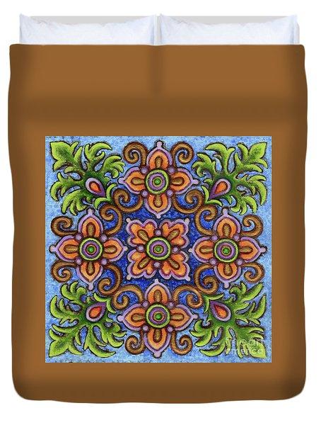 Botanical Mandala 1 Duvet Cover