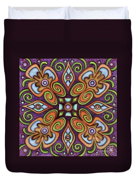 Botanical Mandala 11 Duvet Cover