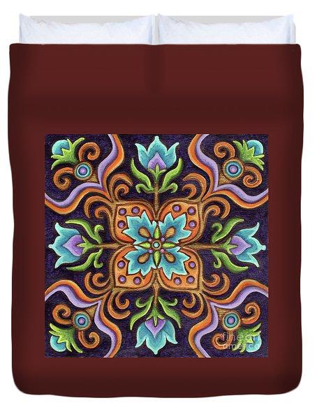 Botanical Mandala 12 Duvet Cover