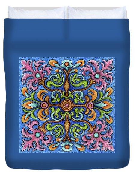 Botanical Mandala 2 Duvet Cover