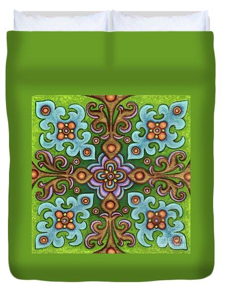 Botanical Mandala 4 Duvet Cover