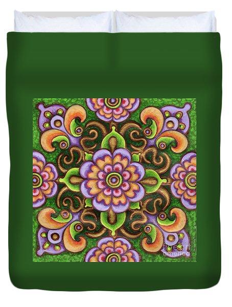 Botanical Mandala 5 Duvet Cover