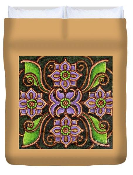 Botanical Mandala 6 Duvet Cover