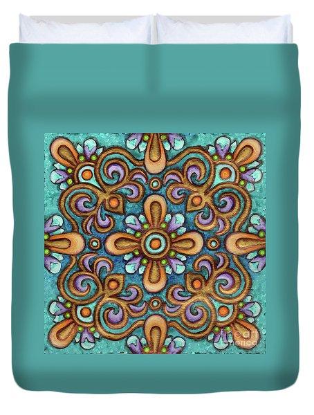 Botanical Mandala 7 Duvet Cover