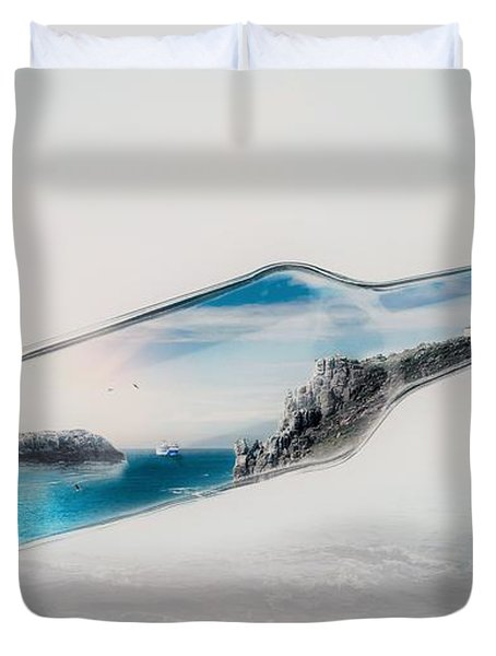 Bottle Island Duvet Cover