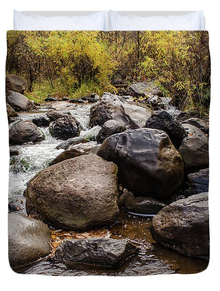 Boulders In Creek Duvet Cover