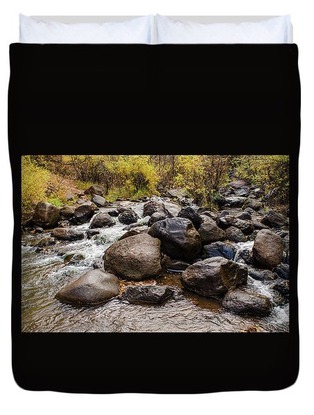 Boulders In Creek Duvet Cover