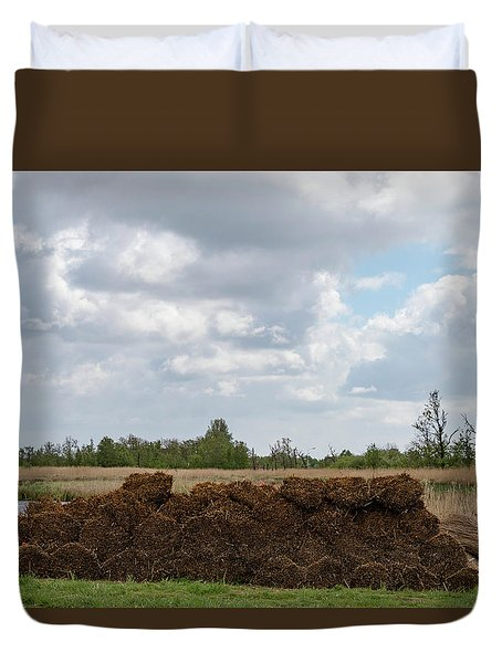Duvet Cover featuring the photograph Bound Reeds by Anjo Ten Kate