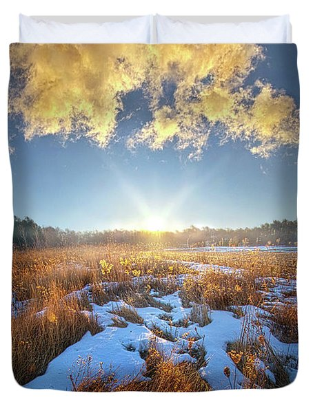 Duvet Cover featuring the photograph Bound Within The Silence by Phil Koch
