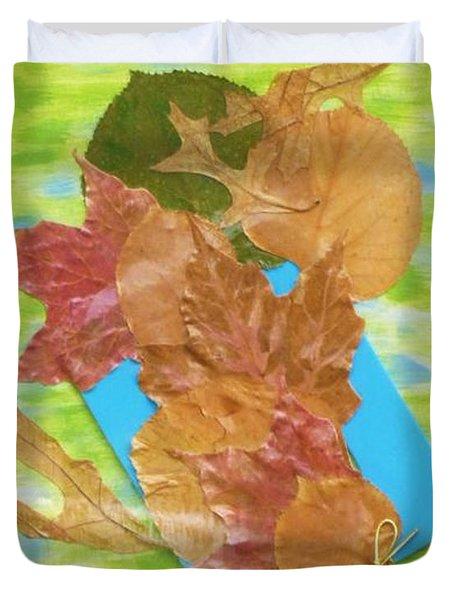 Bouquet From Fallen Leaves Duvet Cover