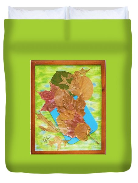 Bouquet From Fallen Leaves Duvet Cover