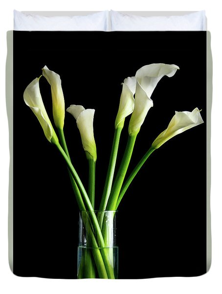Bouquet Of Calla Lilies Duvet Cover