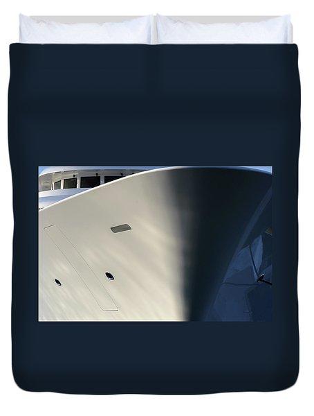 Bow Of Mega Yacht Duvet Cover