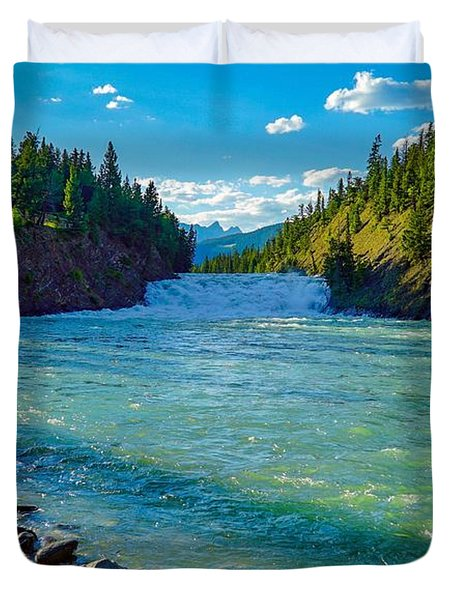 Bow River In Banff Duvet Cover