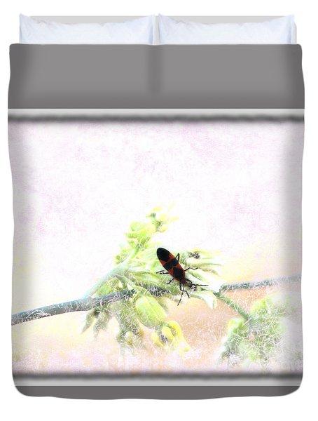 Boxelder Bug In Morning Haze Duvet Cover