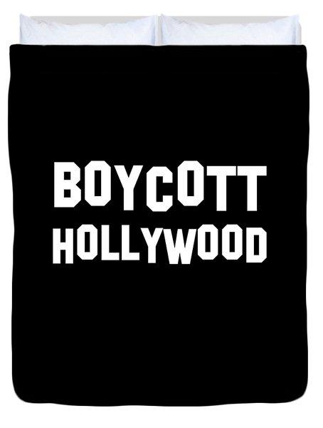 Boycott Hollywood Duvet Cover