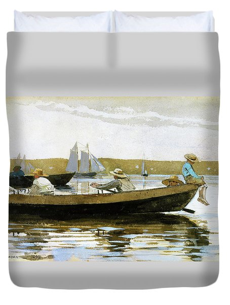 Boys In A Dory - Digital Remastered Edition Duvet Cover