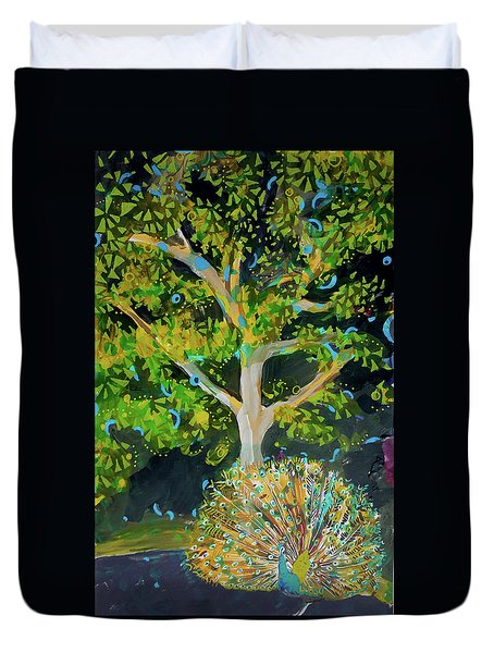 Branching Out Peacock Duvet Cover