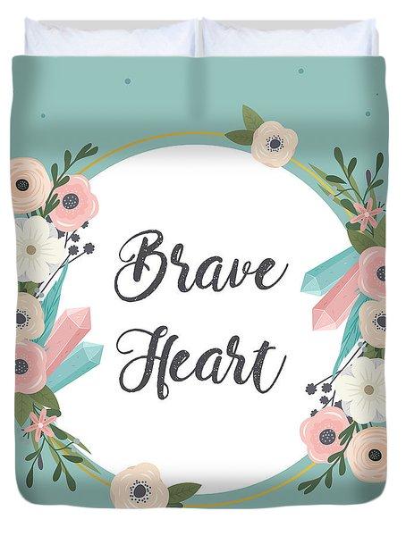 Brave Heart - Boho Chic Ethnic Nursery Art Poster Print Duvet Cover