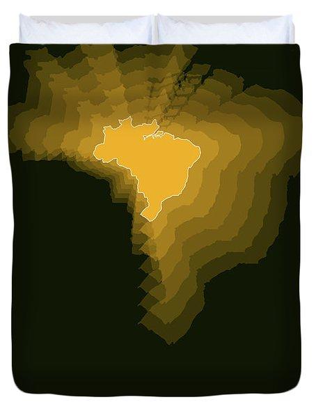 Brazil Radiant Map 1 Duvet Cover