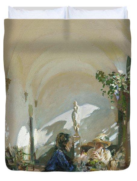 Breakfast In The Loggia, 1910  Duvet Cover