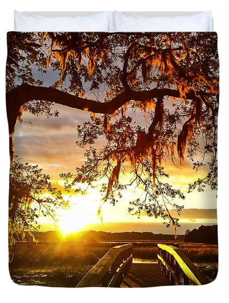Breaking Sunset Duvet Cover
