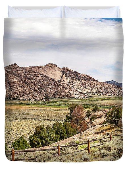 Breathtaking Wyoming Scenery Duvet Cover