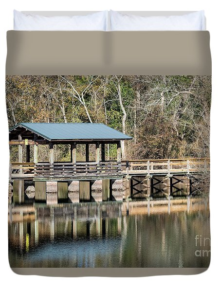 Brick Pond Park - North Augusta Sc Duvet Cover