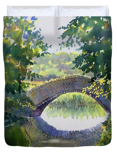 Bridge Over Gypsy Race Duvet Cover