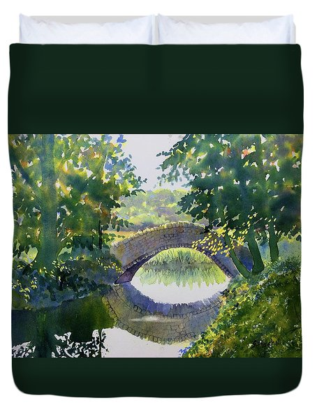 Bridge Over Gypsy Race Duvet Cover