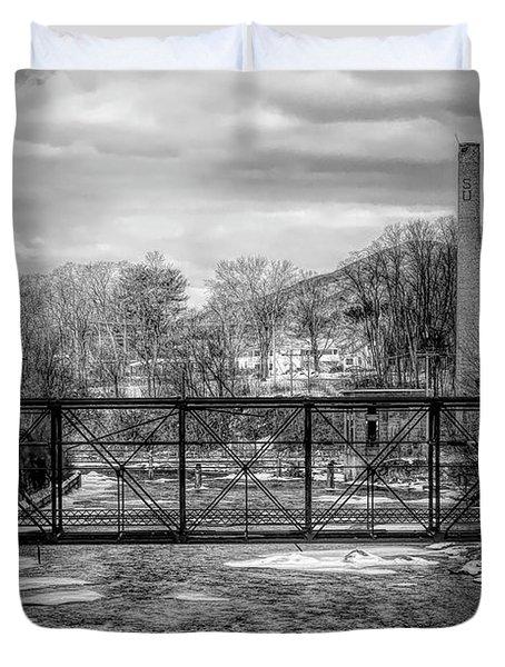 Bridge Over The Sugar River Duvet Cover